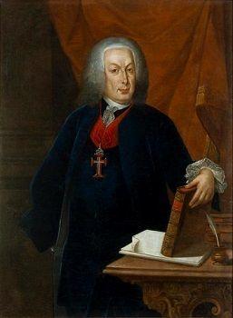 Retrato do Marquês de Pombal com a insígnia da Ordem de Cristo.