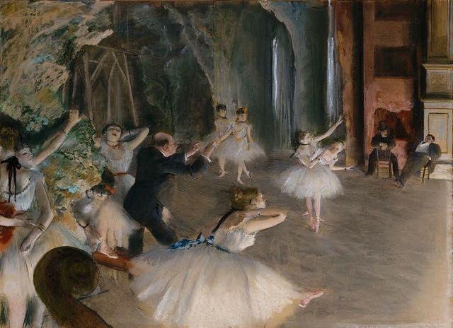 """The Rehearsal on the Stage"" de Edgar Degas"