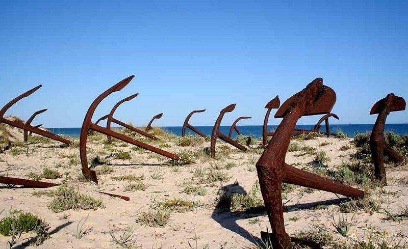 Praia do Barril - Cemitério das Âncoras, Santa Luzia
