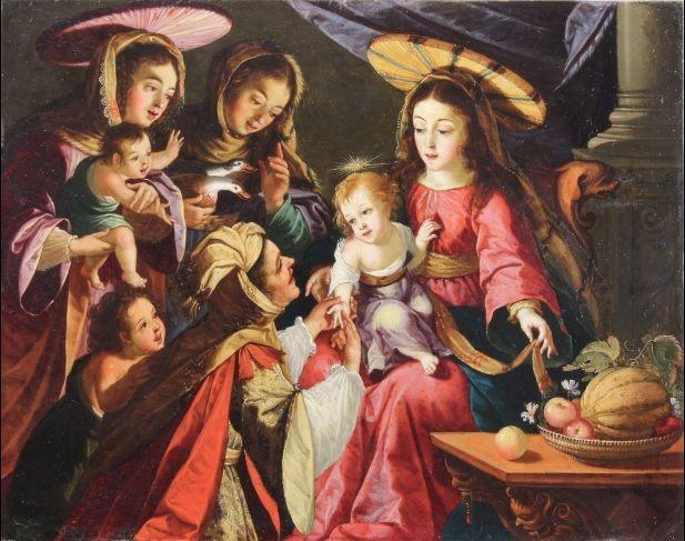"""""""A leitura da sina do Menino Jesus"""" é uma pintura datada de 1667 [DR]"""