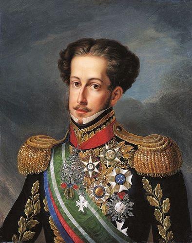 Retrato do Imperador do Brasil, Pedro I, feito pelo pintor português Simplício Rodrigues de Sá