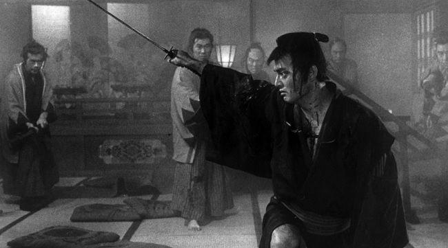 Frame de A Espada da Maldição, filme japonês de 1966 que será exibido esta quinta-feira no Museu Nacional Grão Vasco DR