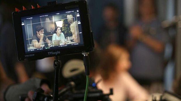 Rodagem do filme 'A Mãe É Que Sabe'.© Diana Quintela/Arquivo Global Imagens