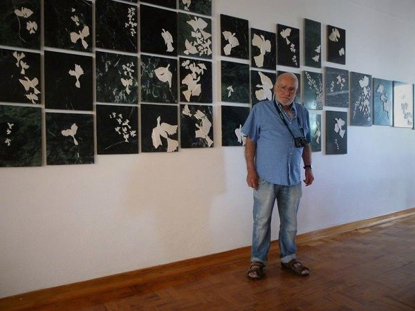 João Cutileiro na exposição que fez em Marvão (2015). Foto: Facebook/João Cutileiro