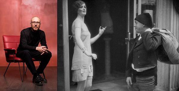 Filipe Raposo e fotograma do filme Lisboa, Crónica Anedótica, de Leitão de Barros (1930)_António Marinho da Silva/DR