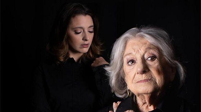 Eunice e a neta Lídia Muñoz. Foto: Teatro Louletano